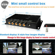 Car 4-Way Video Switch Parking Camera 4 View Image Split-Screen Control Box Sets