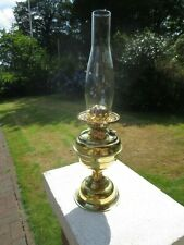 BRITISH MAKE DUPLEX OIL LAMP COMPLETE WITH CHIMNEY SHEPARDS HUT LAMP
