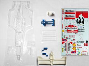 1/10 Ferrari F2001 F2000 F1 Michael Schumacher RC body package with decal diy