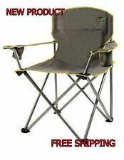 Quik Chair Folding Oversized Seat Outdoor Camp Fishing Beach Capacity 500Lb Grey