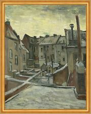 Houses seen from the back Vincent van Gogh Häuser Stadt Hinterhof B A2 03394