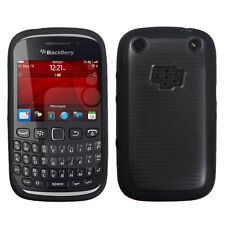 For BlackBerry Curve 9310 9320 TPU Gel GUMMY Hard Skin Case Cover Blac