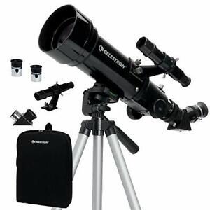 Celestron Travel Scope 70 Portable Refractor Telescope Kit with Backpack, Black