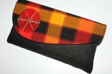 Handmade Authentic Africa Kenya Maasai fold over  maasai cloth Clutch Bag