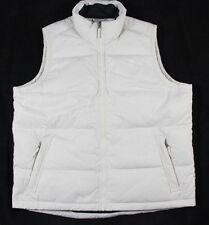 Timberland Ivory Full Zip Nylon 126G Down Filled Vest Size XL BNWT