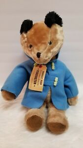 "Vintage 19"" Paddington Bear With Blue Coat Plush"