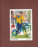 Anders Limpar .. Schwedischer  Nationalspieler ...  Signierte Upper Deck Karte