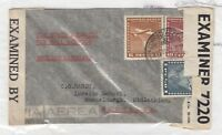 Chile 1942 Postal History Censor Cover To Scotland Via North Atlantic Air  J489