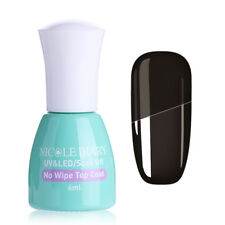 6ml Nail UV Gel Polish No Wipe Top Coat Tempered Enhance Soak Off NICOLE DIARY