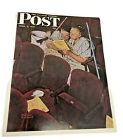 "CHARWOMAN  Norman Rockwell Print Saturday evening post 8.5"" x 11"""
