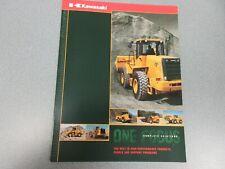 Kawasaki Wheel Loader & Plant Literature 8 Pages