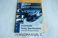 2001 YAMAHA Snowmobile Tuning Carburetion Clutching Gearing Power Launch Manual
