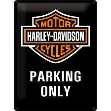 Harley-Davidson Parking LOGO EMBLEMA BICI Pubblicità MOTO targa-parcheggio