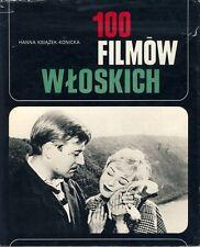 Ksiazek Konicka 100 filmów wloskich 100 italienische Filme Buch aus Polen 1978