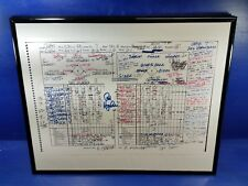 Chicago Cubs World Series Win Score Card Copy and lineup card 2016