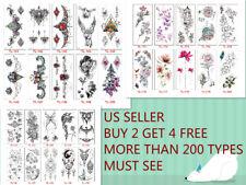 Men Women Butterfly Temporary Body Chest Waist Art Tattoo Sticker Choker Pendant