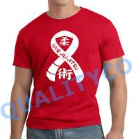 Men's Live Jiu Jitsu Red T Shirt Workout Muscle Beast Fitness Gym BJJ MMA Tee