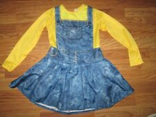 Girls MINION DESPICABLE ME Halloween Costume M md Med 8 -10  rubies