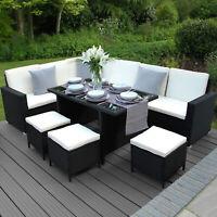 Rattanoptik Loungemöbel Gartenmöbel Terrasse Poly-Rattan inkl. Sessel und Tisch