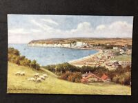 Vintage Postcard: Artist Signed: A R Quinton:  A467: Seaton From Golf Links