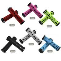 2x Cycling Double Lock-On Round Handle Grips Bars for Mountain Bike MTB Bicycle
