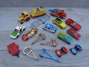 Vintage 1960-70's Corgi Toys Lot Land Rover / Ferrari / Trailers / Porsche Etc