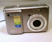 Polaroid I1035 10MP Digital Camera - Silver (untested AS IS - no returns)