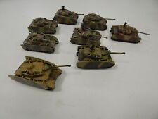 15mm German PANZER IV Tanks x 8