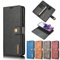 Flip Leather Wallet Credit Card Slot Magnetic Removable Case Cover For Samsung