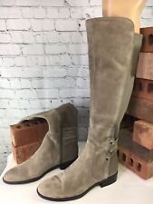 Vince Camuto Wide Calf Leather Foxy Suede Tall Shaft Boots Women Size 7M QVC