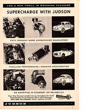 1958 MGA / VW BEETLE / RENAULT DAUPHINE ~ ORIGINAL JUDSON SUPERCHARGER AD
