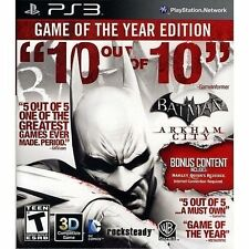 Batman: Arkham City Game of the Year PLAYSTATION 3 (PS3) Action / Adventure