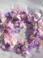 Biodegradable Confetti Vintage Hearts Purple Pink Ivory Eco Friendly Large Bag