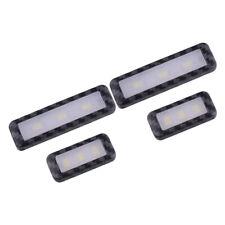 4Pcs Maniglia per porta interna per auto Ciotola LED bianco 12V Luce ambiente