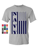 Navy American Flag T-Shirt Patriotic Stars and Stripes Military Mens Tee Shirt