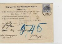 Switzerland 1898 Postal History Stamps Cover Ref: R7790