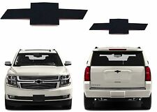 CNC Cut Gloss Black Front & Rear Bowtie Emblems For 2014-2017 Tahoe New USA