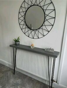 Chunky Rustic Hairpin Console/ hall table/ radiator cover- industrial style