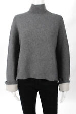 360 Cashmere Gray Cashmere Long Sleeve Mock Sweater Size Extra Small New $449
