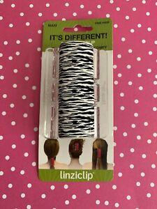 Linziclip Maxi Hair Claw Clip-White Tiger