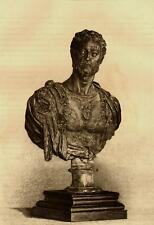 Eau-forte, Buste de COSME 1er DE MEDICIS par Benvenuto Cellini - 1875