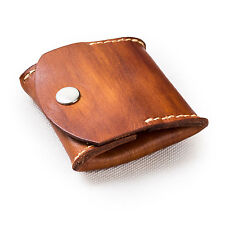 Ancicraft Genuine Leather Coin Purse Pouch Wallet Bag Handmade Unique Brown Gift