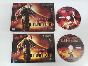 LAS CRONICAS DE RIDDICK VIN DIESEL 2 X DVD STEELBOOK METALICA ESPAÑOL ENGLISH AM