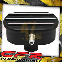 Chevy Ford Mopar Aluminum Breather Pcv Valve Polished Finned - Black