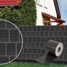 PVC Sichtschutzstreifen Stabmattenzaun Windschutz Zaun 70-280m Rattan-Anthrazit