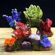 Resin Coral Plant Shell Reef Mountain Aquarium Fish Tank Cave Decor Ornament