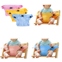 Baby portable high chair seat safety belt foldable sacking dinning seat belts JR
