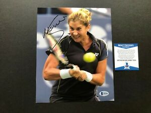 Monica Seles Hot! signed autographed tennis legend 8x10 photo Beckett BAS coa