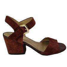 Geox Respira Womens High Heel Shoes Eu 39 US 9 Brick Suede Nubuck Block Chunky