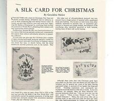 A SILK CARD FOR CHRISTMAS - Tear sheets